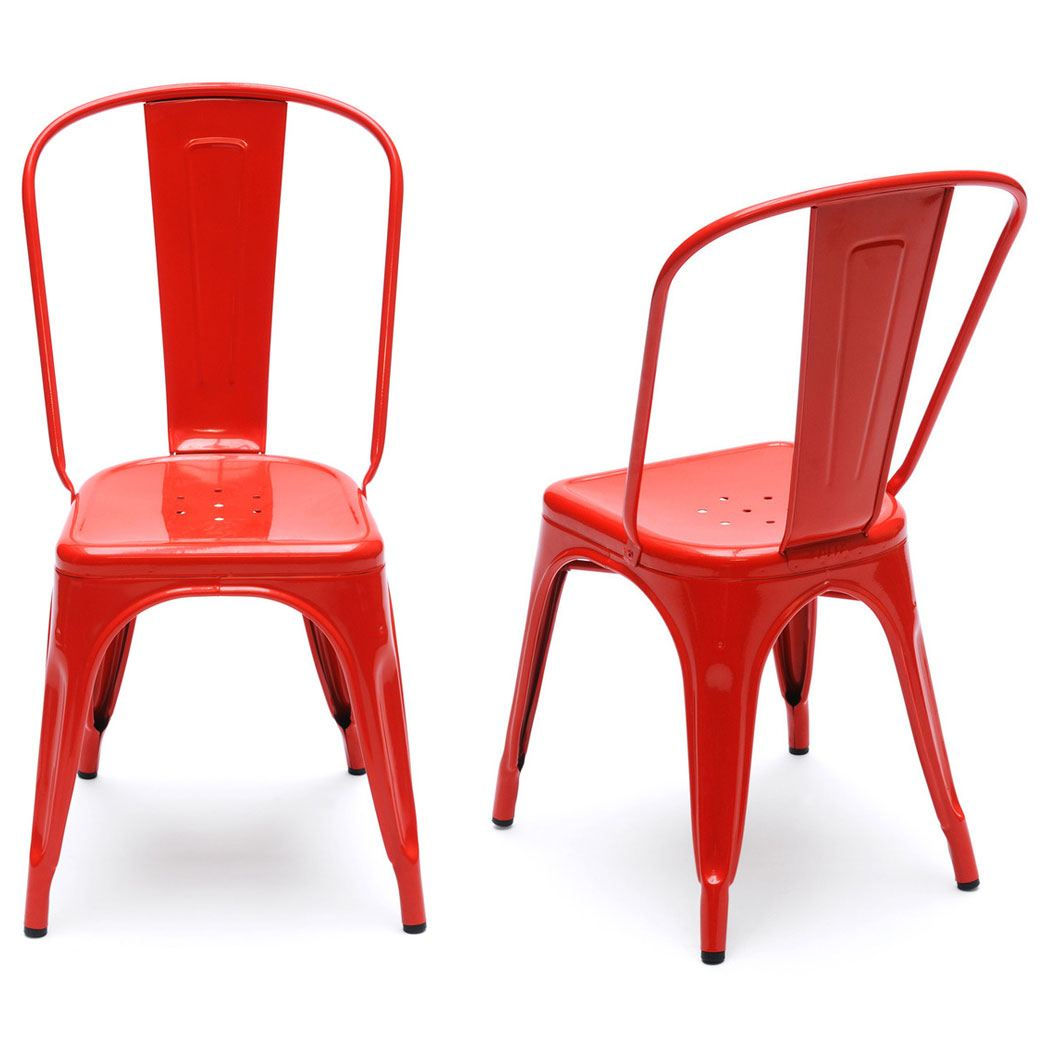 chair red furniture chairs dining tolix target angle replica